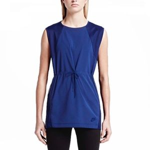 🆕Nike Blue Drawstring Peplum Active Top